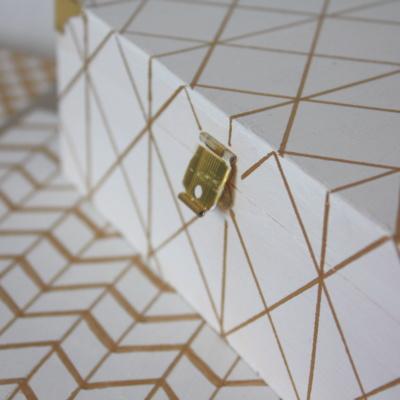 Holzschachteln Upcycling und Weiß-Gold-Liebe