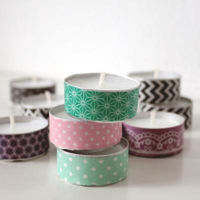 Mini-Sonntags-DIY: Teelichter aufhübschen
