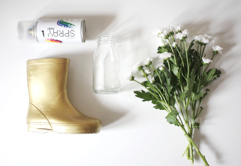 Gummistiefel Upcycling Vase 1a