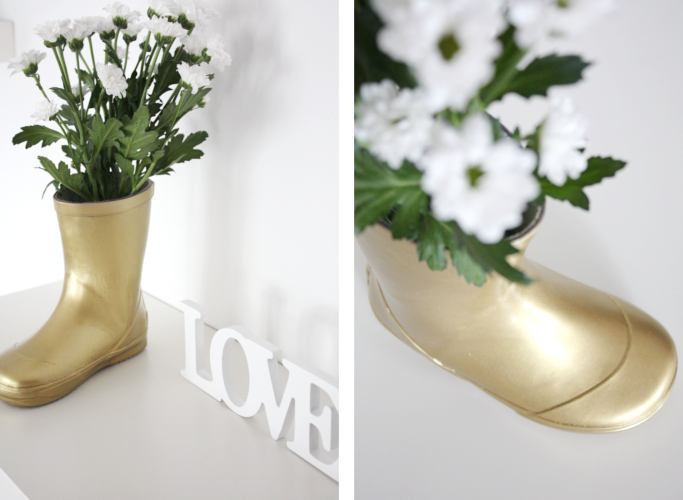 Gummistiefel Upcycling Vase 9a