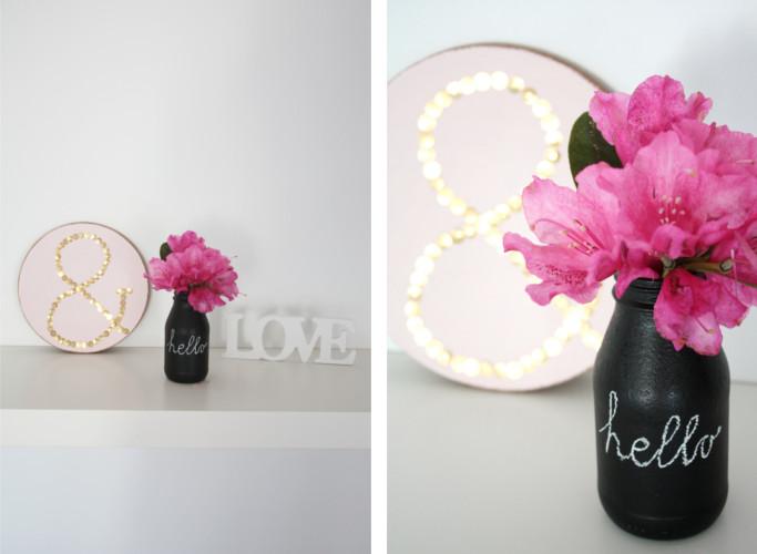 Upcycling Glasflaschen mit Tafelfarbe als Vase6