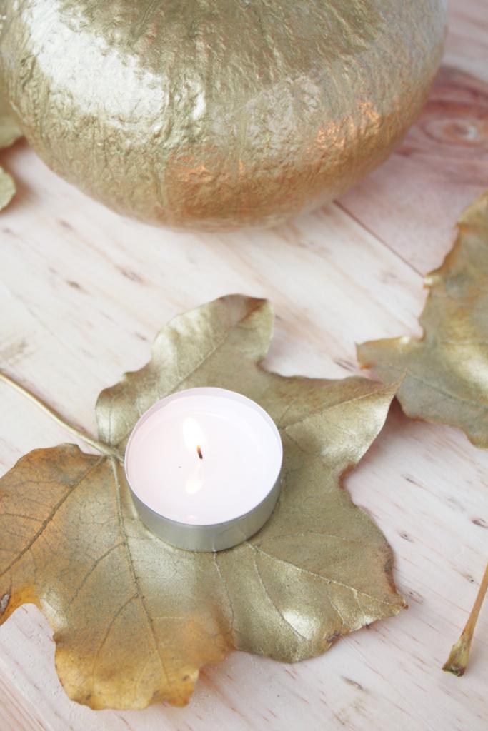 Schnelle Herbstdeko DIY in Gold 6