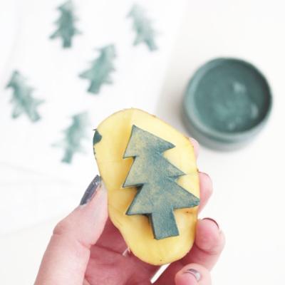 Plätzchen verschenken in selbst gestempelten Weihnachts-Tütchen & Gewinner