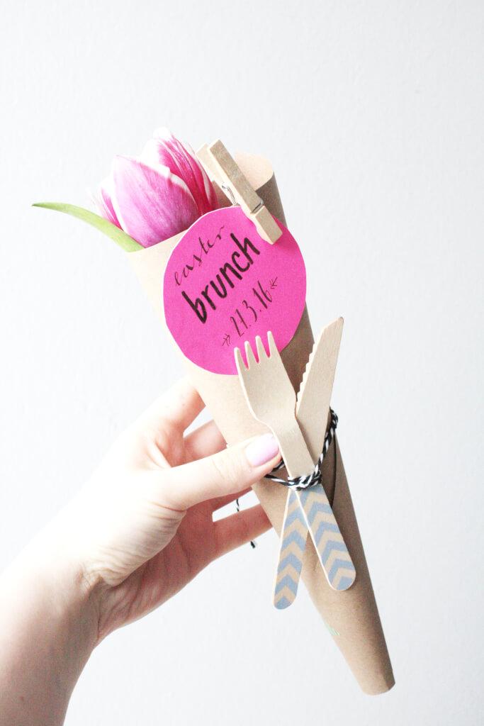 diy ostern: brunch einladung basteln - rosy & grey - diy blog, Einladung