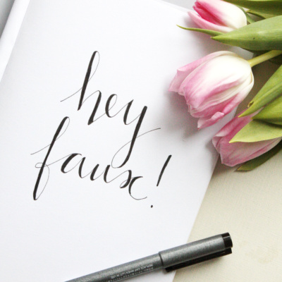 Handlettering Tipps 2: Faux Calligraphy lernen