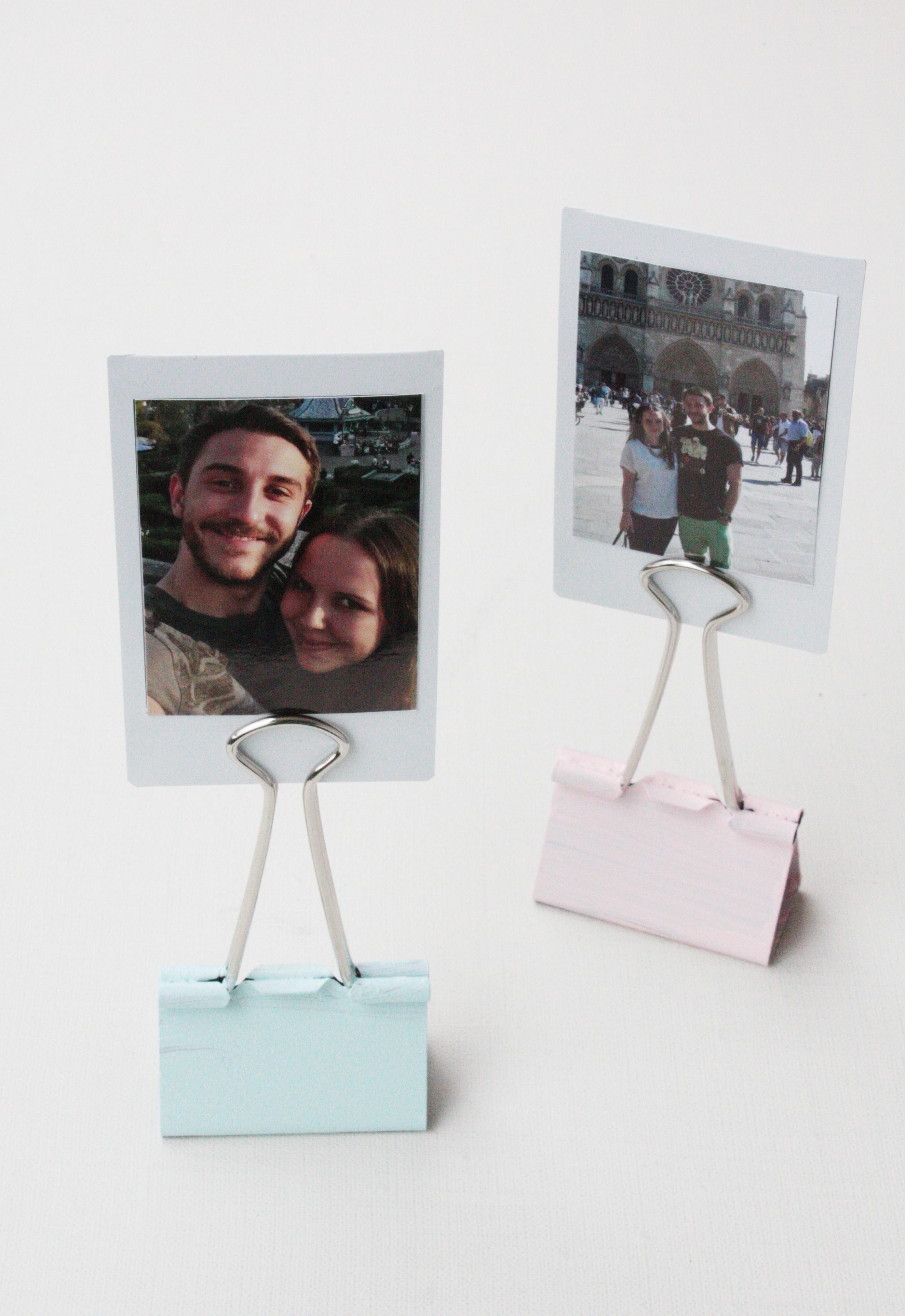 Geschenkidee Polaroid Fotohalter basteln 3