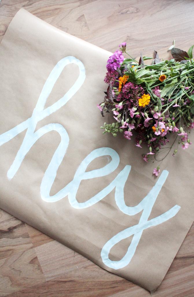 Blumen verpacken zum verschenken 2