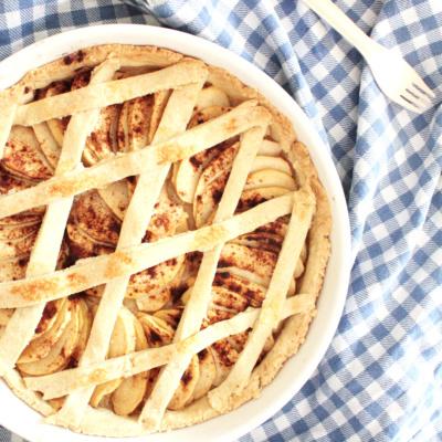Französische Apfeltarte