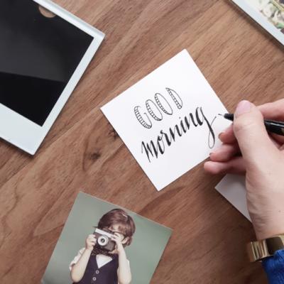 Selbstgemachtes Geschenk: DIY Untersetzer im Handlettering Style