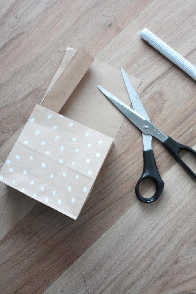 DIY Weihnachtsstern verpacken