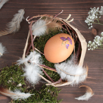 Ostern DIY: Osternest im Naturstil basteln