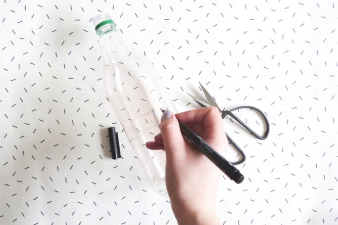 Einhorn Übertopf selbermachen DIY basteln