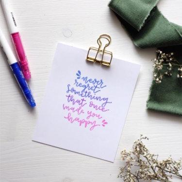 DIY Blog Basteln Lettering lernen Printable Pilotpen