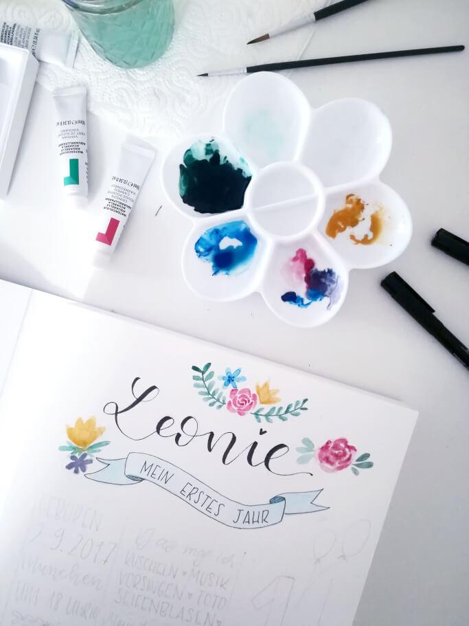 Lettering und Aquarell lernen DIY Blog