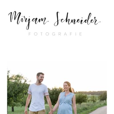 Lettering-Logo für Mirjam Schneider Fotografie