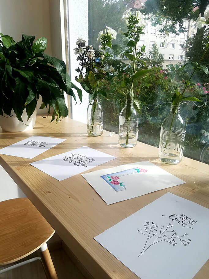Handlettering Workshop Muenchen DIY Blog