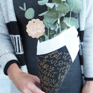 DIY: Weihnachtlicher Strauss als Mitbringsel