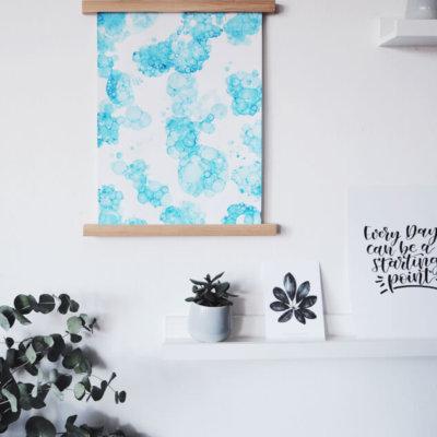 DIY Bubblebild und Posterleiste selbermachen