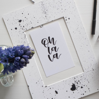 DIY Handlettering Wanddeko & Passepartout Upcycling