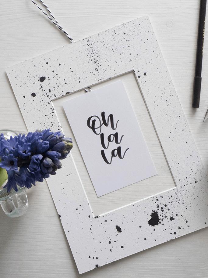 DIY Handlettering Wanddeko Passepartout Upcycling