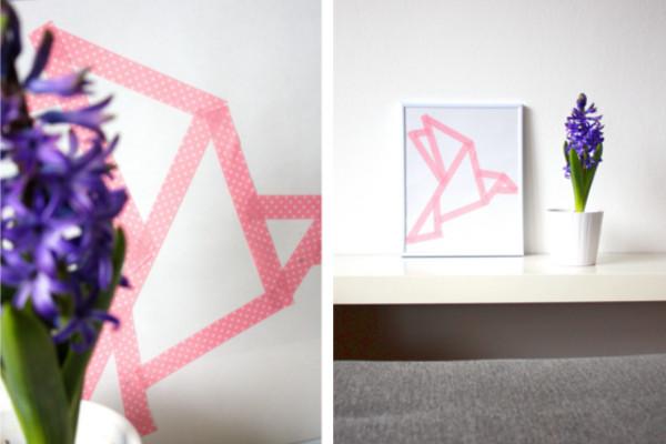 Origami Vogel collage
