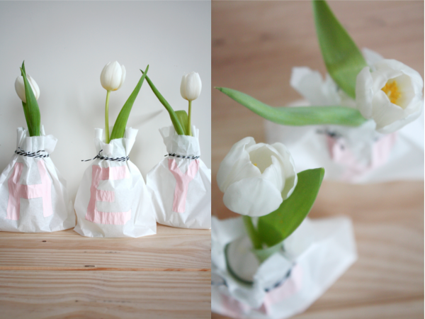 Diy Frühlingsvasen Mit Brotpapiertüten Rosy Grey Diy Blog