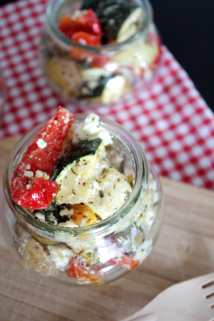 Grillbeilage Zucchini Paprika Ofengemüse mit Feta 1