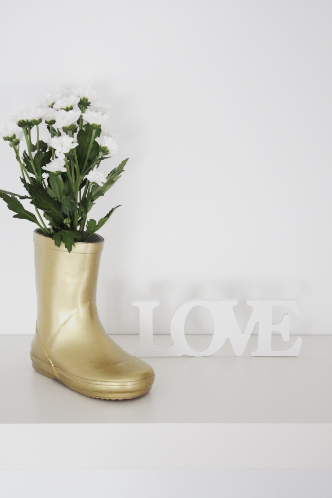 Gummistiefel Upcycling Vase 2a