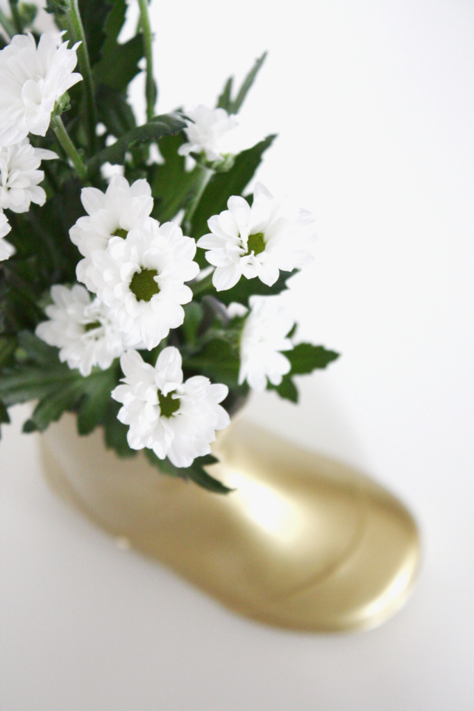 Gummistiefel Upcycling Vase 7a