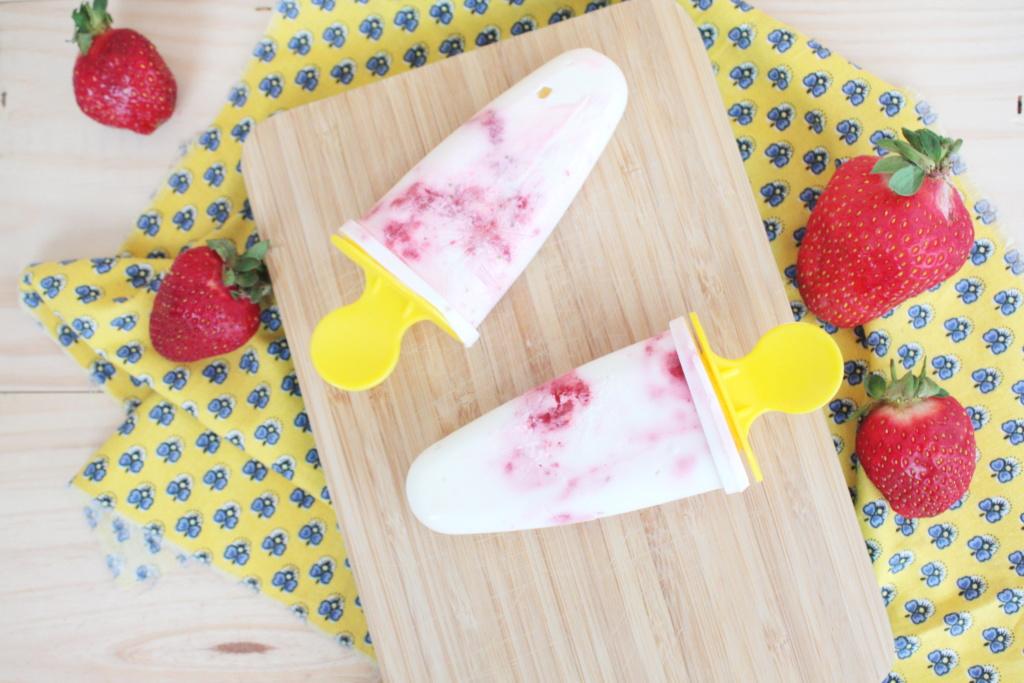 Joghurt Erdbeer Popsicles 2