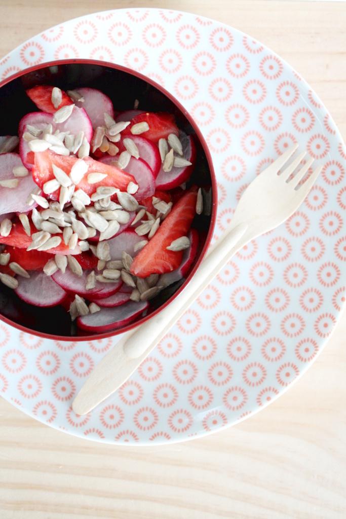 Radieschen Erdbeer Salat 1