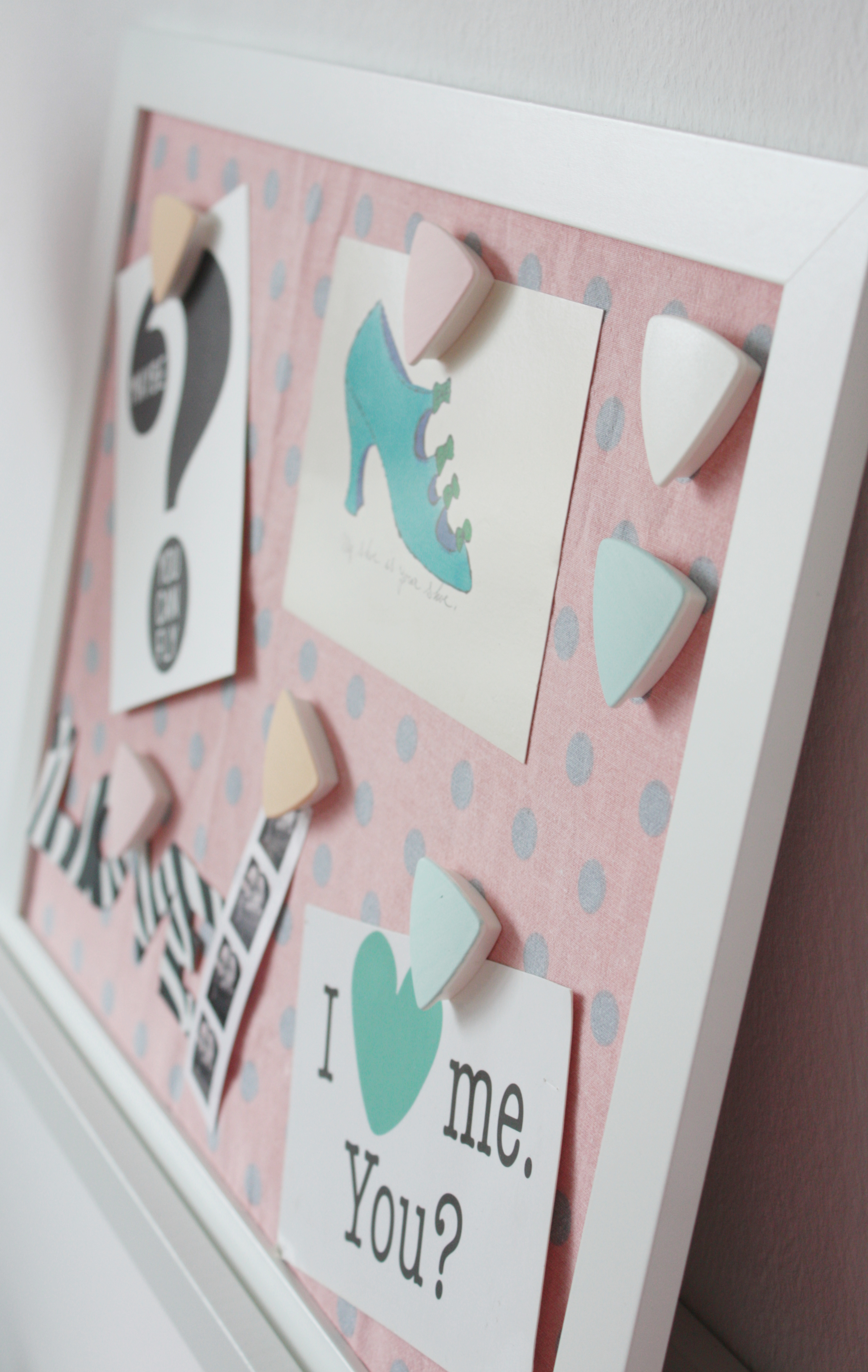 Diy magnetisches memoboard pastell magnete rosy - Memoboard basteln ...