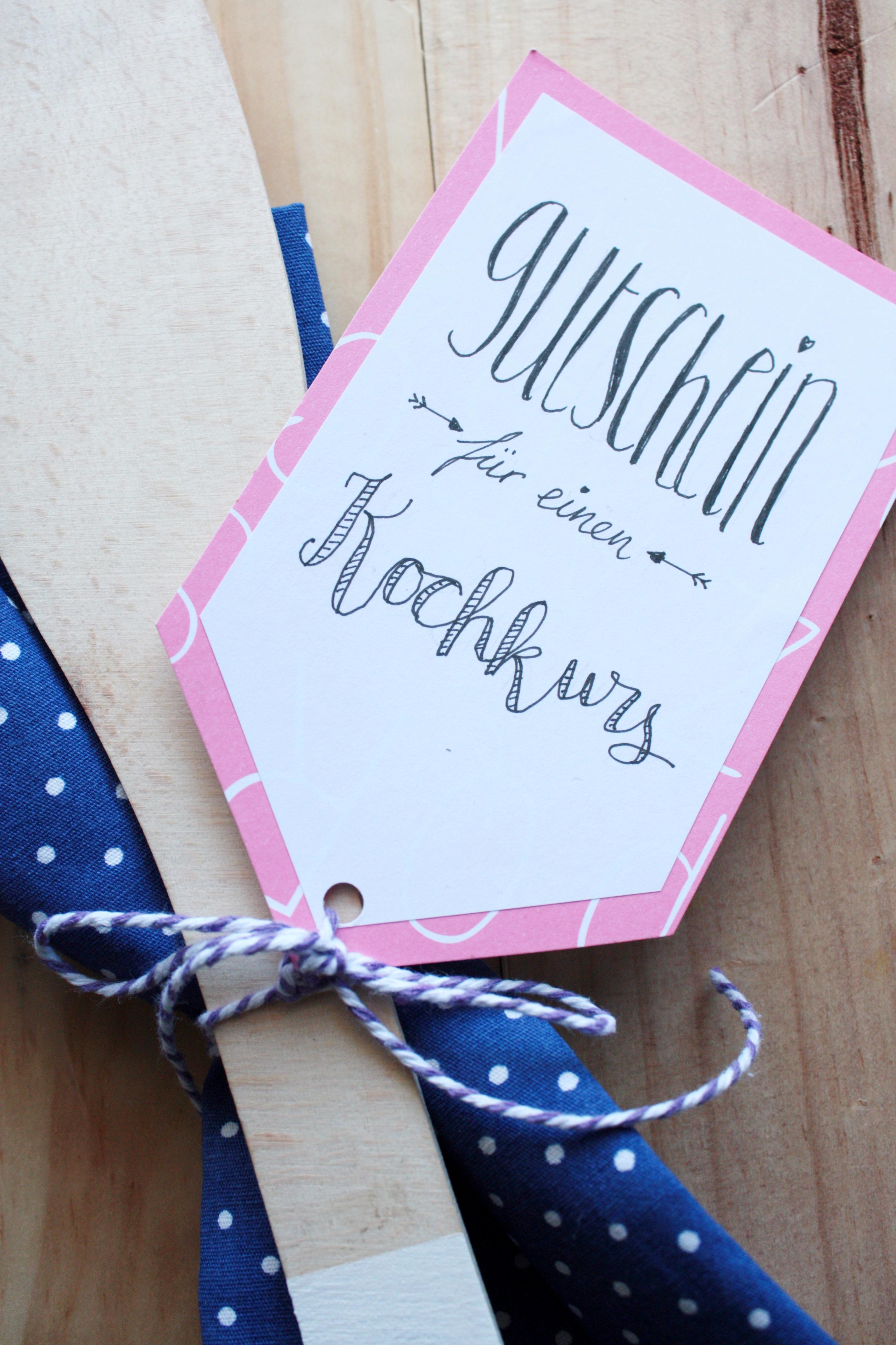 Gutscheine verpacken gutschein f r einen kochkurs selbst gestalten rosy grey diy blog - Gutschein selbst gestalten ideen ...