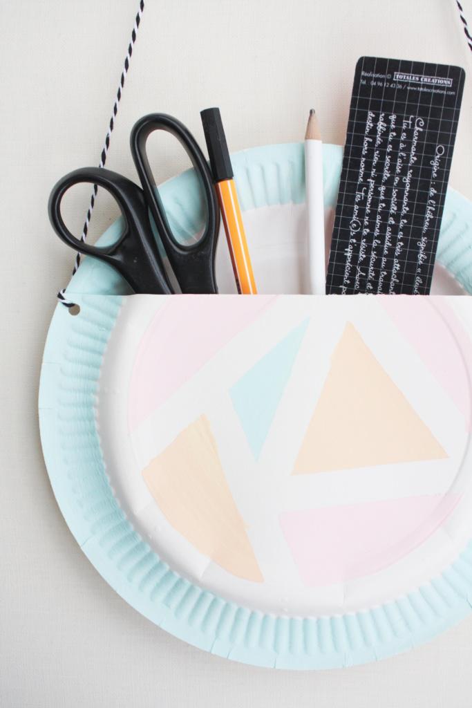 DIY Utensilio aus Papptellern 3