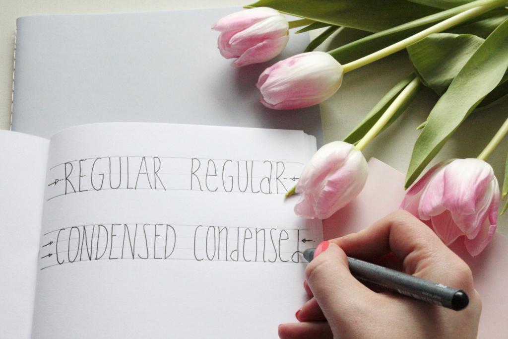 Handlettering Basics 2 Condensed Fonts lernen