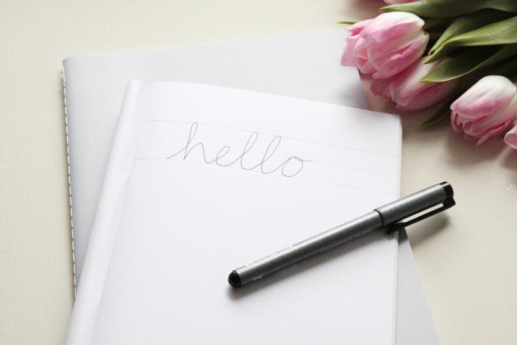 Faux Calligraphy lernen Schritt für Schritt Anleitung