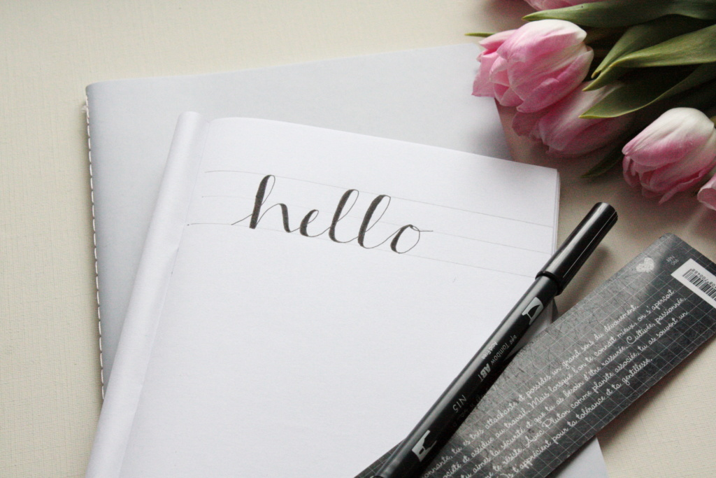 Faux Calligraphy Schritt für Schritt