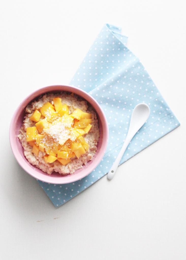 Mango Kokos Porridge Rezept 1