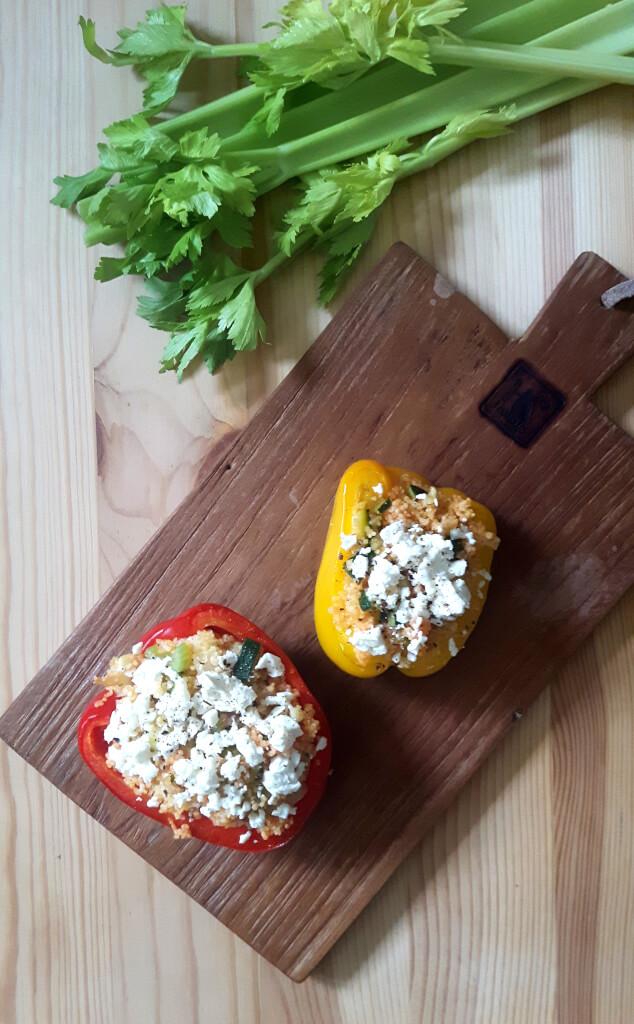 Gefüllte Paprika vegetarisches Rezept