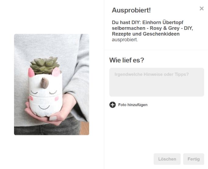Ausprobiert Pinterest Einhorn Vase selbermachen DIY Blog