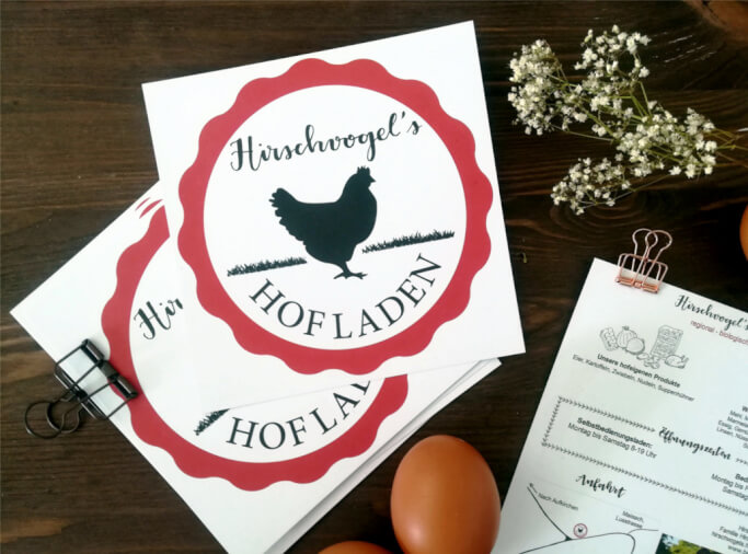 Logo Design Lettering Muenchen Hofladen
