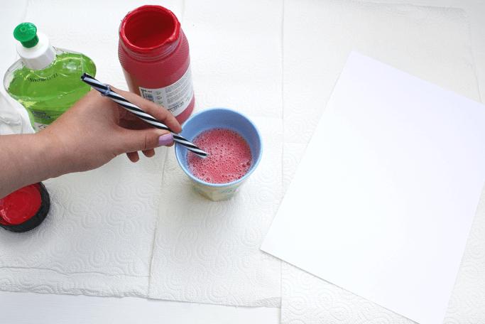 DIY Kalender selbermachen mit Bubble-Technik gestalten DIY Blog Muenchen