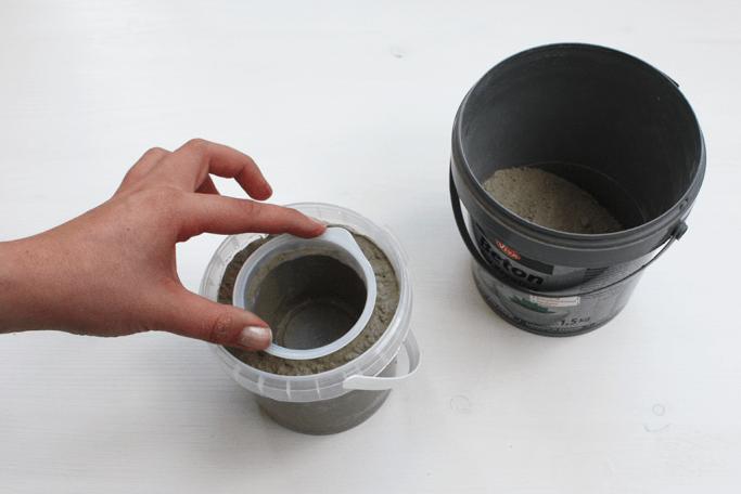 Pflanzentopf aus Beton mit Goldspritzern selbermachen DIY Blog München