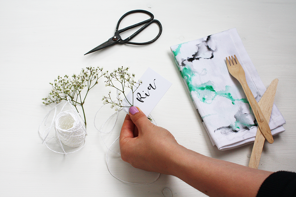 DIY Stoffservietten in Aquarell-Optik